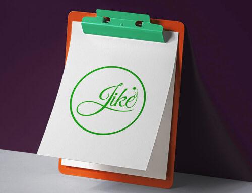 طراحی لوگو برند جیکه غذای ارگانیک
